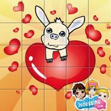 Puzzle en ligne cochelin Saint Valentin