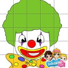 Puzzle clown Carnaval