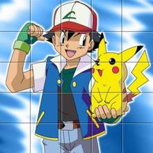 Puzzle Sacha et Pikachu