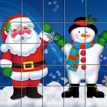 Le Père Noël et son bonhomme de neige