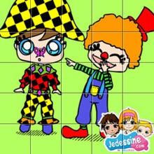 Puzzle Arlequin et clown