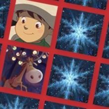 Memory L'apprenti Père Noël et le flocon magique - Facile