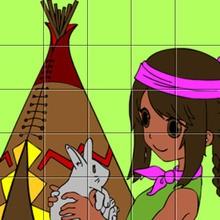 Puzzle : Petite indienne