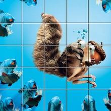 Puzzle : Scrat attaqué par des Piranhas
