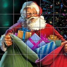 Puzzle : Le Père Noël et ses cadeaux