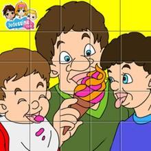 Puzzle papa et ses enfants