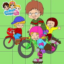 Puzzle Papa à vélo
