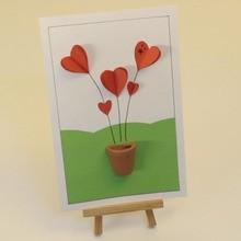 Fiche brico : Carte aux cœurs en relief