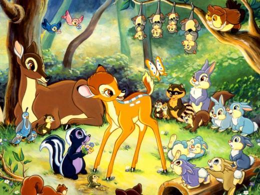les personnages de dessins animés