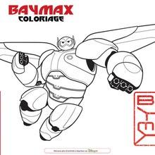 Coloriage Disney : Baymax en armure