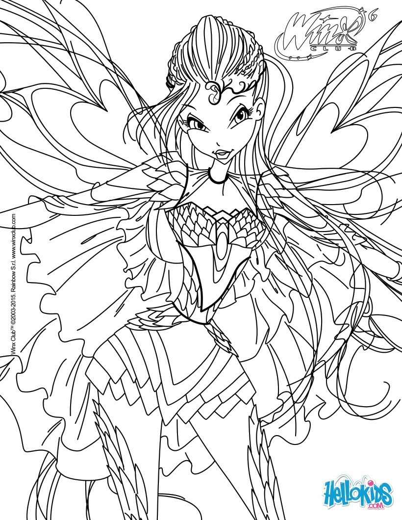 Coloriages bloom transformation bloomix - Coloriage winx bloom ...