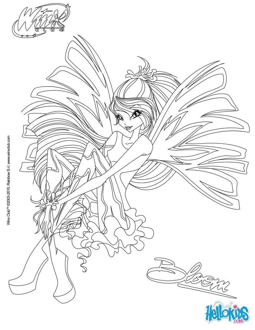 Coloriages Bloom Transformation Sirenix Fr Hellokids Com