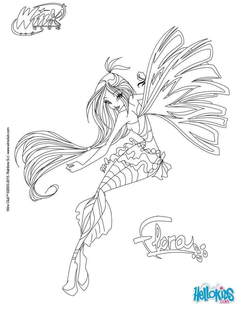 Coloriages flora transformation sirenix - Coloriage winx bloom ...