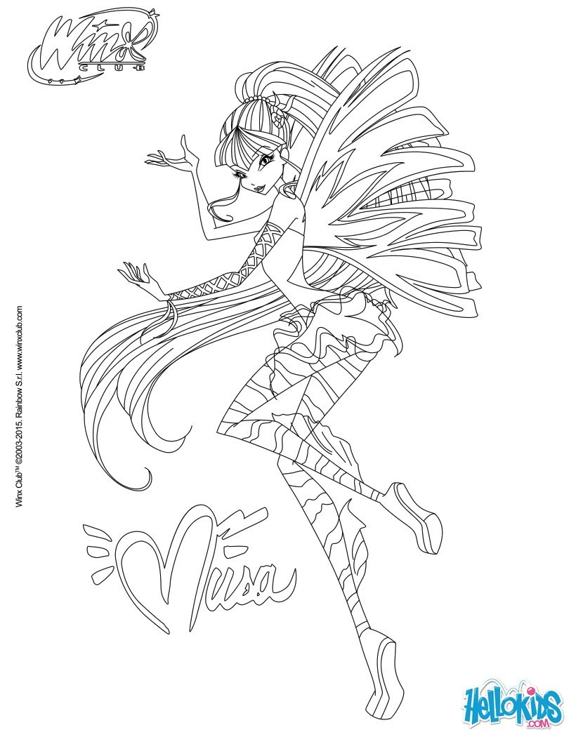 Coloriages musa transformation sirenix - Coloriage winx bloom ...
