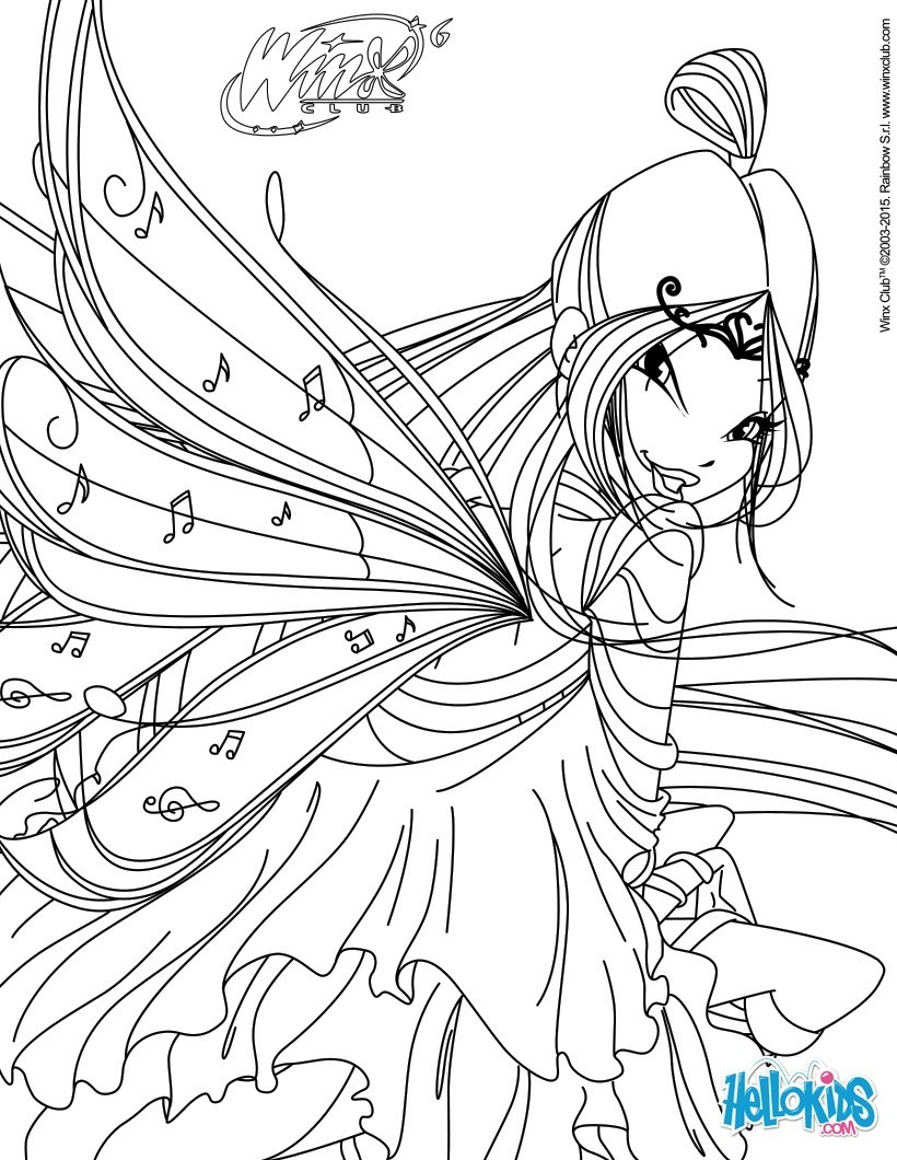 Coloriages musa transformation bloomix - Coloriage winx bloom ...