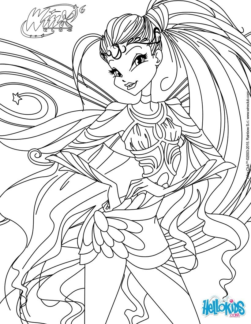 Coloriages stella transformation bloomix - Coloriage stella ...