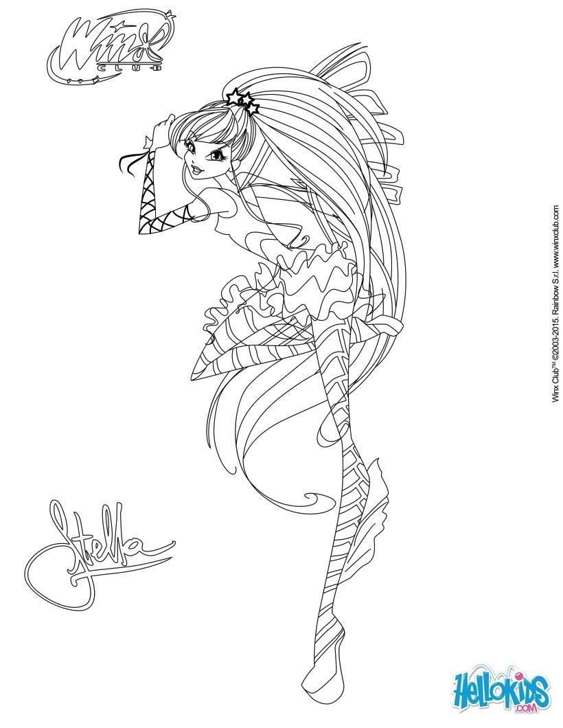 Coloriages stella transformation sirenix for Dressing 3d en ligne