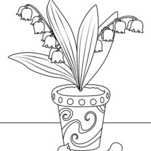 Coloriage : Pot de muguet
