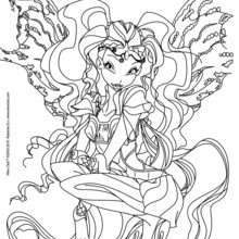 Coloriage : Laya, transformation Bloomix