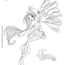 Coloriage : Flora, transformation Sirenix