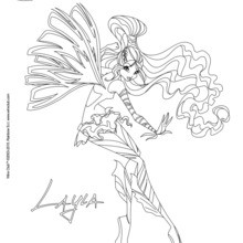 Coloriage : Layla, transformation Sirenix