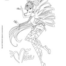 Coloriage : Musa, transformation Sirenix
