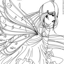 Coloriage : Musa, transformation Bloomix