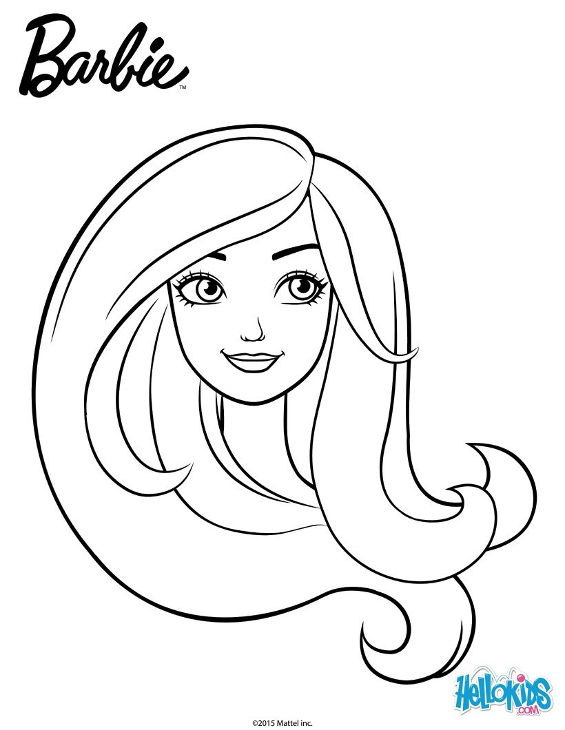 Barbie Silhouette Coloring Pages Collections