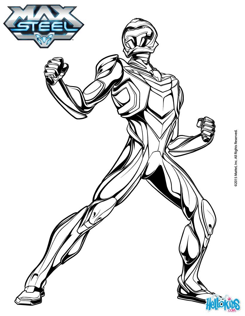 Nuevos dibujos para colorear de Max Steel | Max Steel Reboot