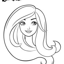 Coloriage Barbie : Barbie en portrait