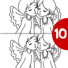 Jeu des différences : Deux anges