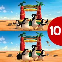 Jeu des différences des Pingouins de Madagascar