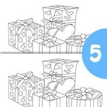 Jeu des différences : Les Cadeaux de Noël