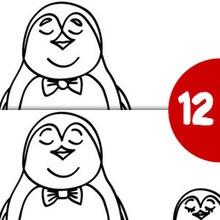 Jeu des différences : Les Pingouins