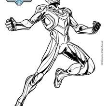 Max Steel en armure de super héros