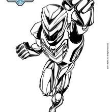 Coloriage : Max Steel en armure complète