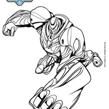 Coloriage : Max Steel en mode turbo