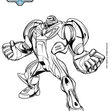 Coloriage : Max Steel Turbo en super héros