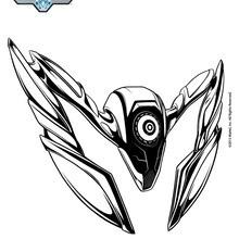 Coloriage : Steel le compagnon de Max Steel