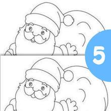 Jeu des différences : Père Noël et sa hotte