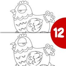 Poulette et son nid Pâques