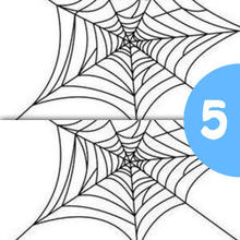 Jeu des différences : Une araignée sur sa toile