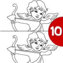 Jeu des différences : Cupidon