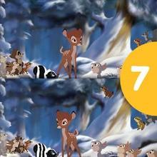 Jeu des différences : Jeu des 7 erreurs Bambi
