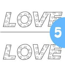 Jeu des différences : Le mot Love
