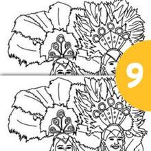 Les danseuses du carnaval de Rio