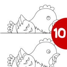 Poulette au pas de course