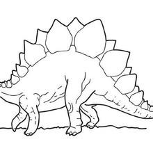 Coloriage : Stégosaure