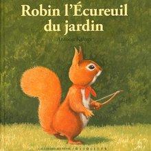 Robin l\'écureuil du jardin