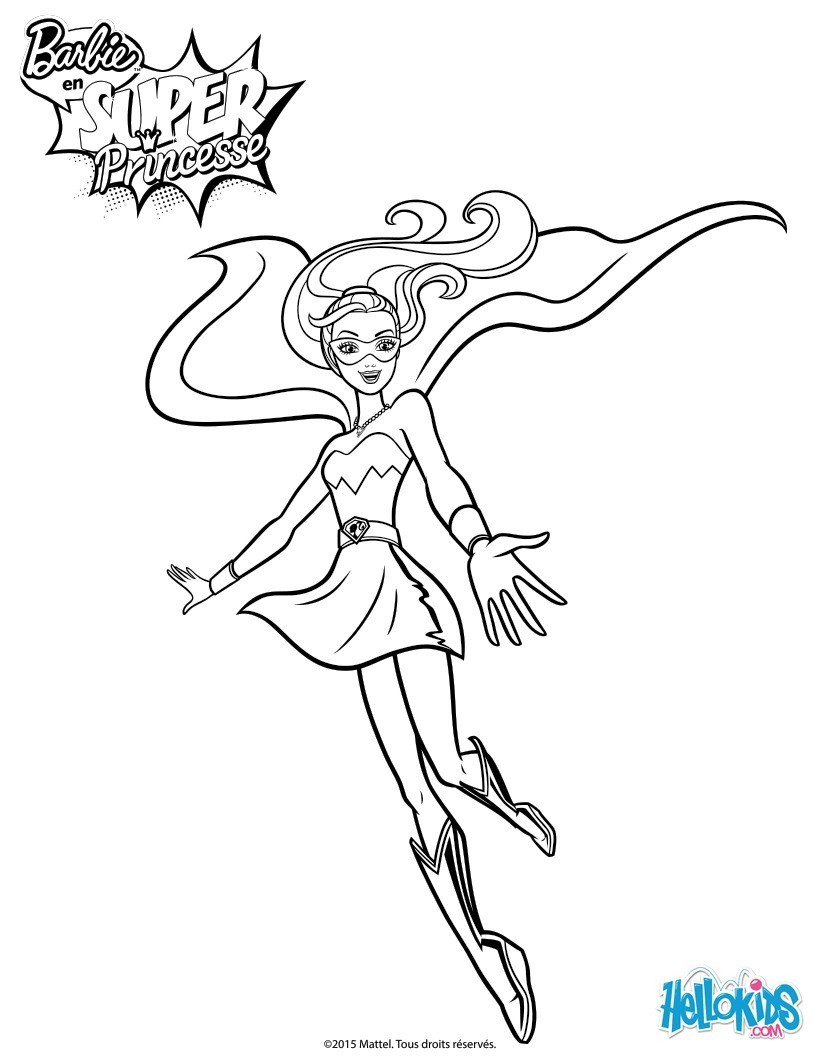 Barbie Super Princesse Coloriage